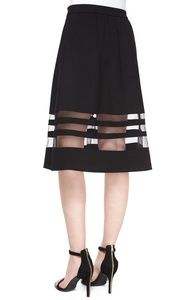 Carmen Marc Valvo black skirt